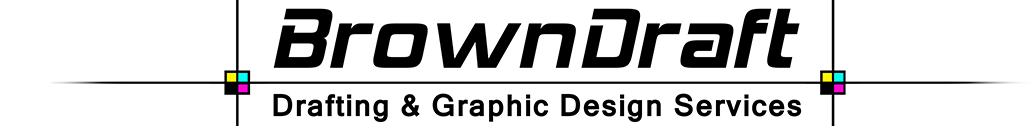 BrownDraft Drafting & Graphic Design Services Logo